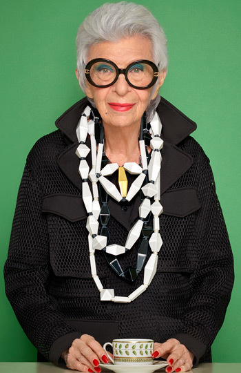 Portrait of Iris Apfel | Bernardaud
