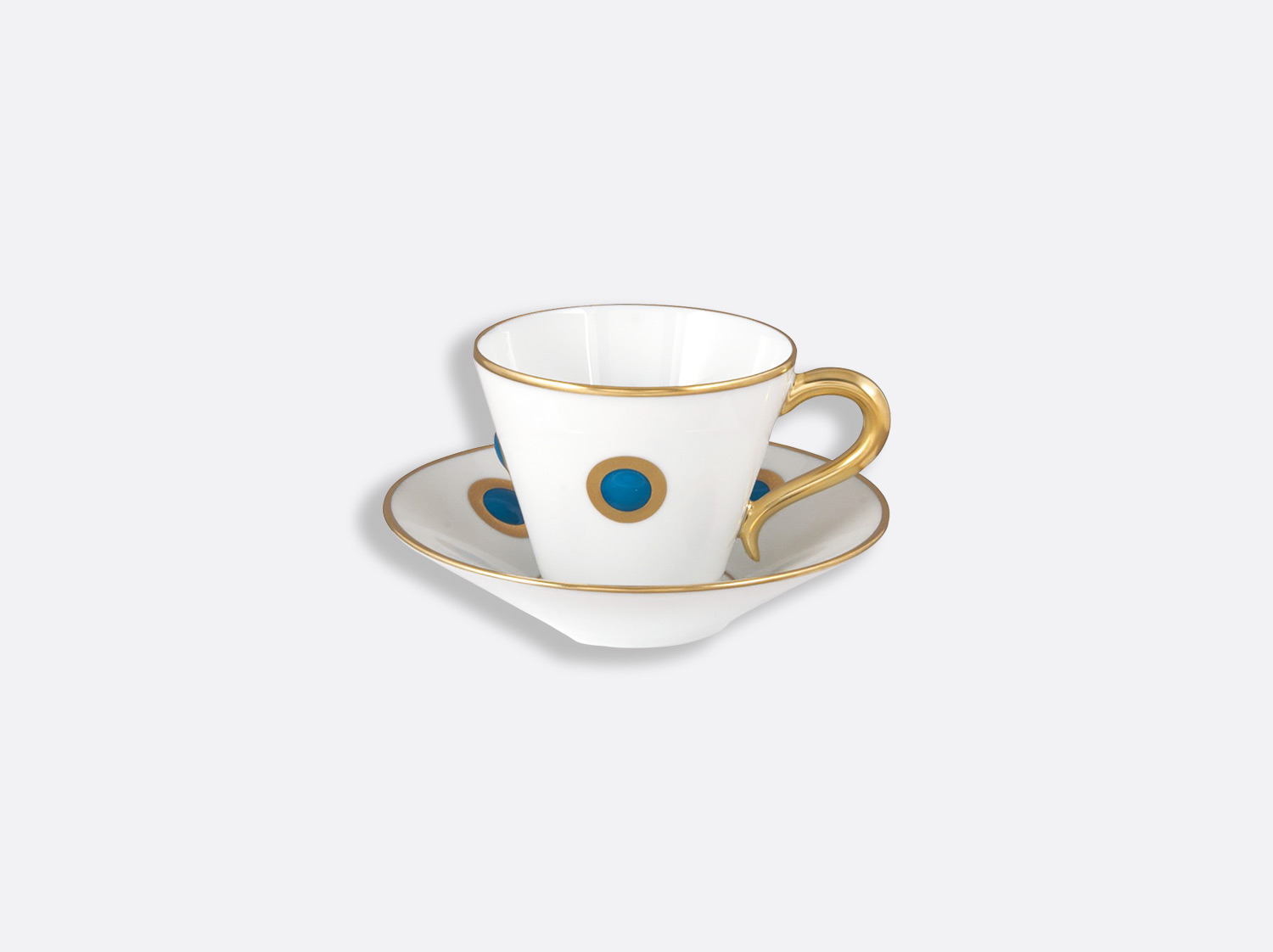 China Espresso cup and saucer 4.4 oz of the collection Ithaque bleu indien | Bernardaud