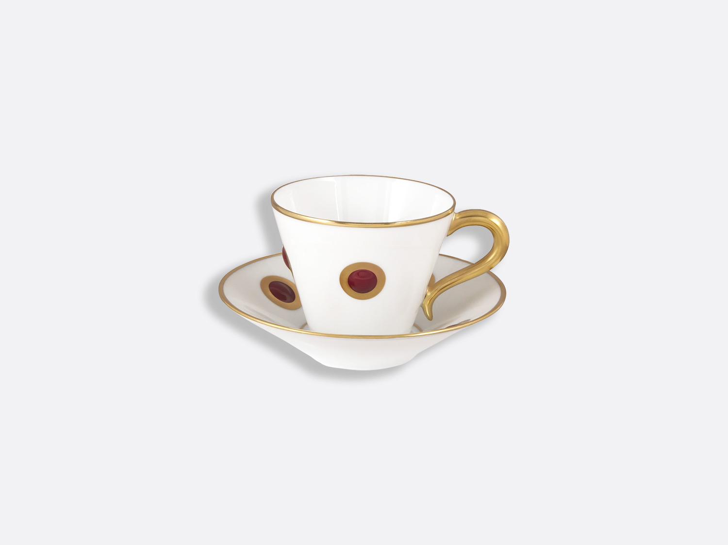Tasse et soucoupe café 13 cl en porcelaine de la collection Ithaque garance Bernardaud