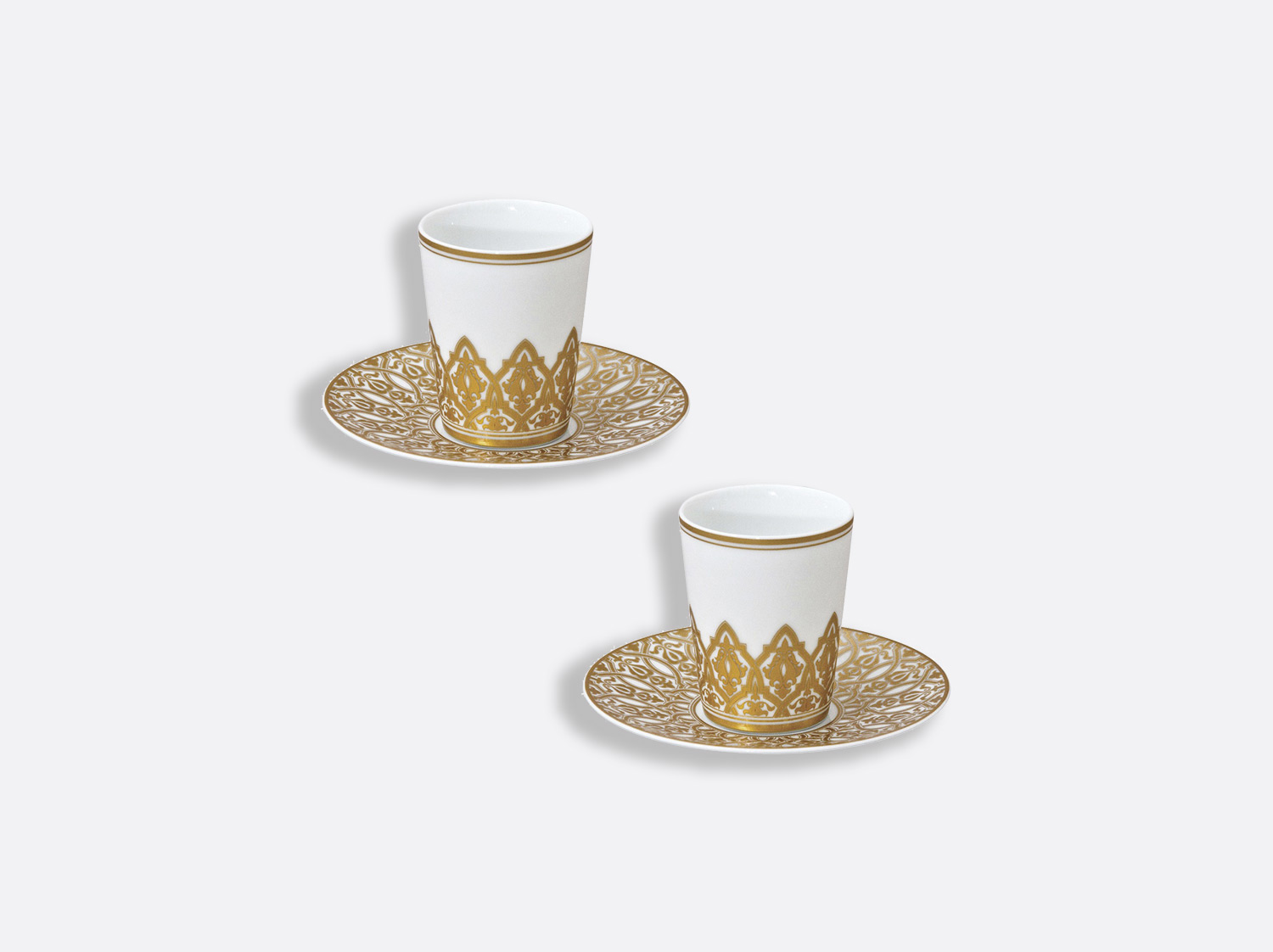 China Set of 2 handle-less espresso cups and saucers 2.4 oz of the collection Venise | Bernardaud