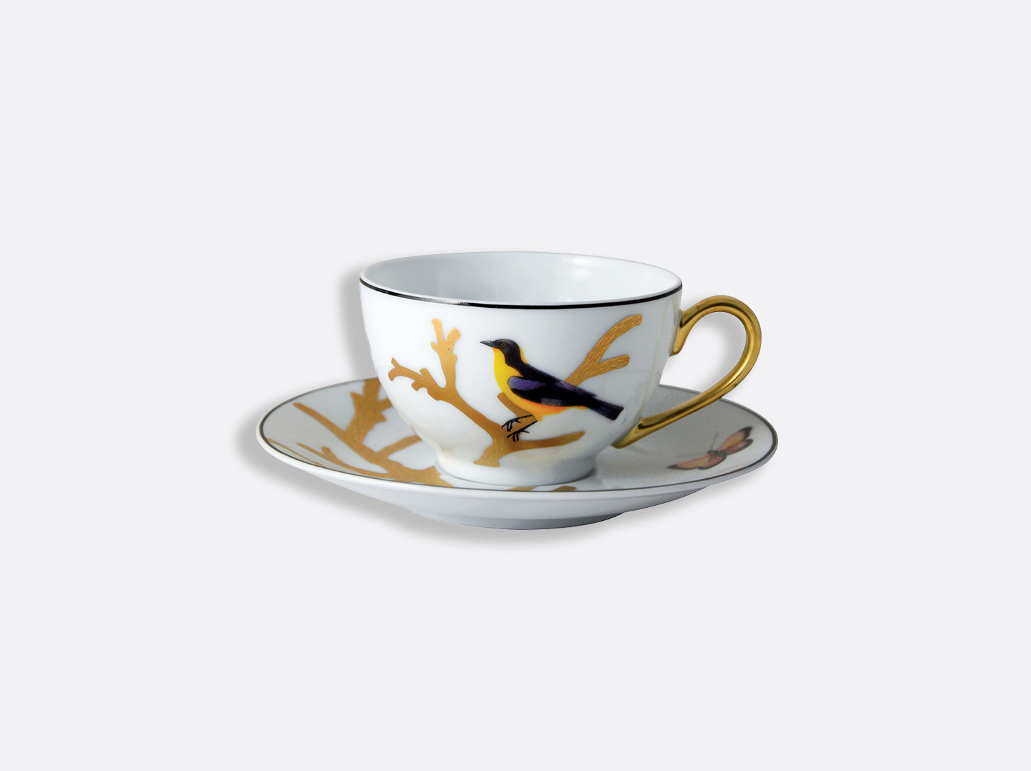 China Tea cup and saucer 4.4 oz of the collection Aux oiseaux | Bernardaud