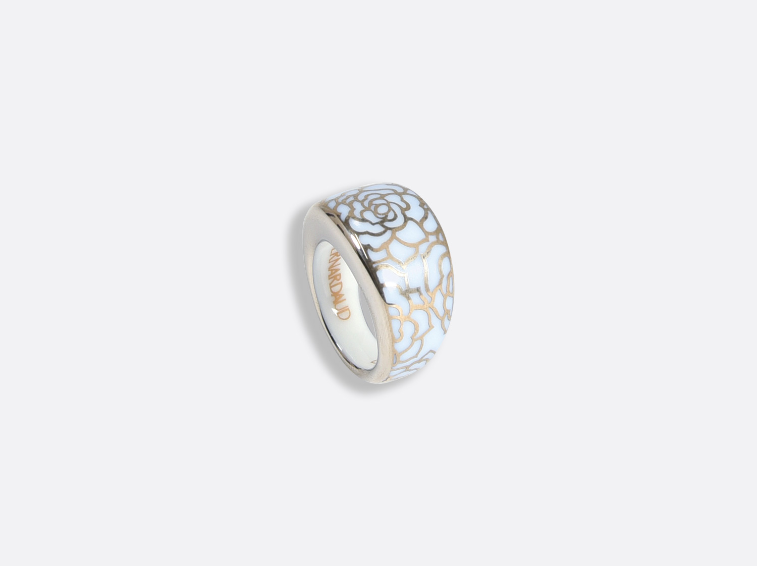Bague en porcelaine de la collection Gardenia Bleu Platine Bernardaud