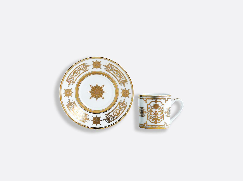 Coffret de tasses & soucoupes café 8 cl en porcelaine de la collection Aux Rois Or Bernardaud