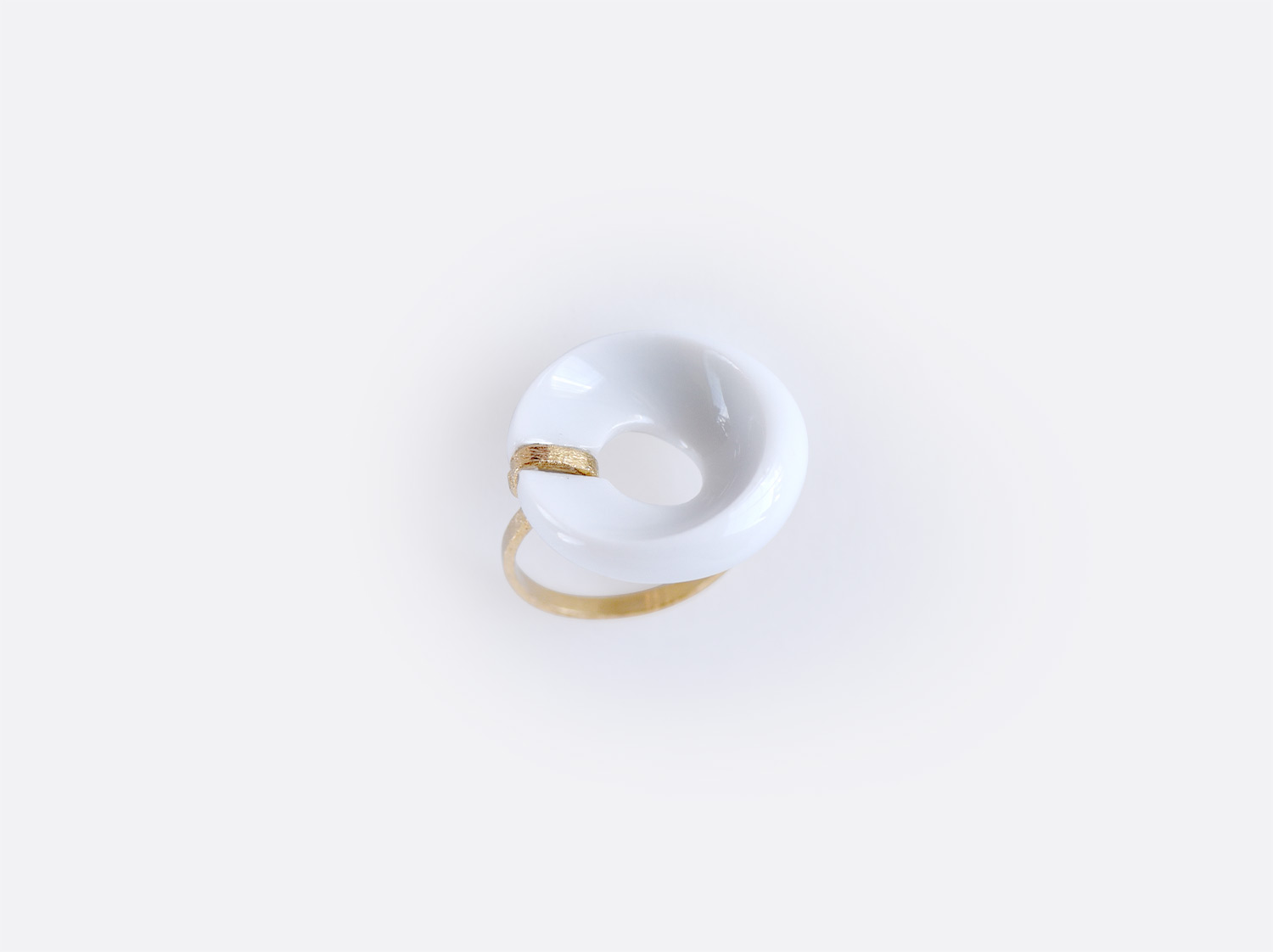 Bague Alba blanc en porcelaine de la collection ALBA BLANC Bernardaud