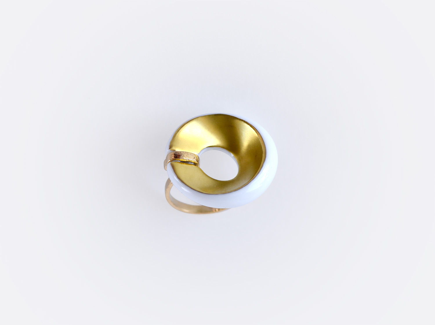 China Alba blanc et or Flat ring of the collection ALBA BLANC ET OR | Bernardaud