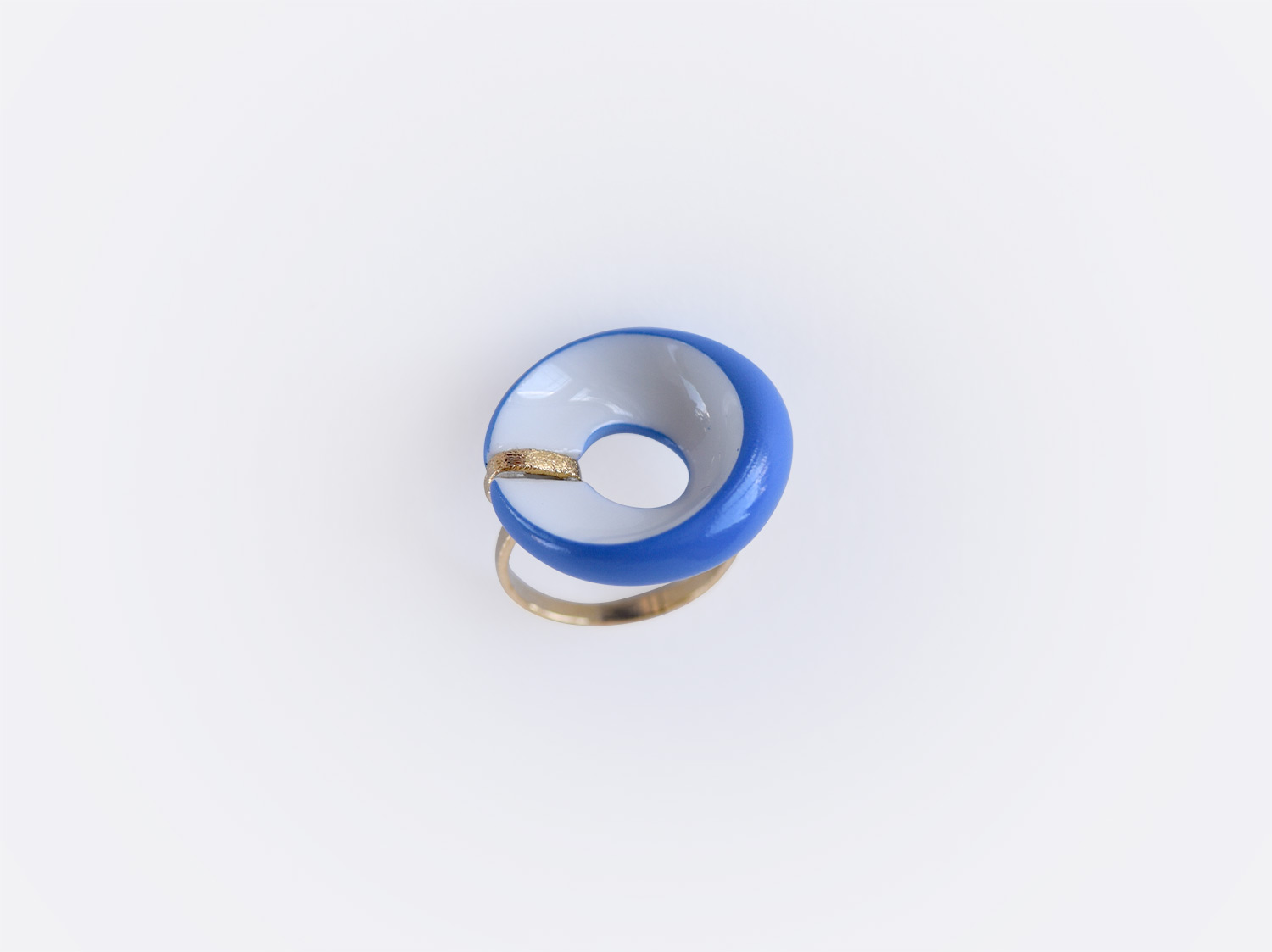 China Alba bleu flat ring of the collection ALBA BLEU | Bernardaud