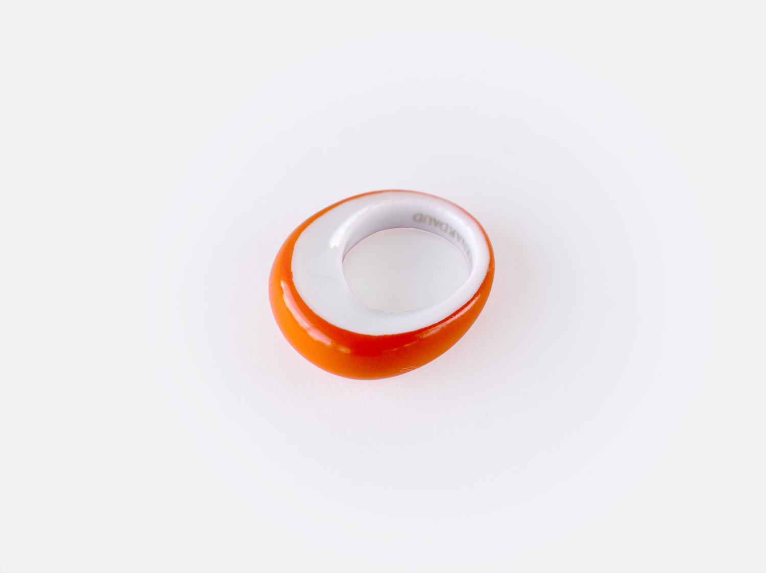 Bague anneau Alba orange en porcelaine de la collection ALBA ORANGE Bernardaud