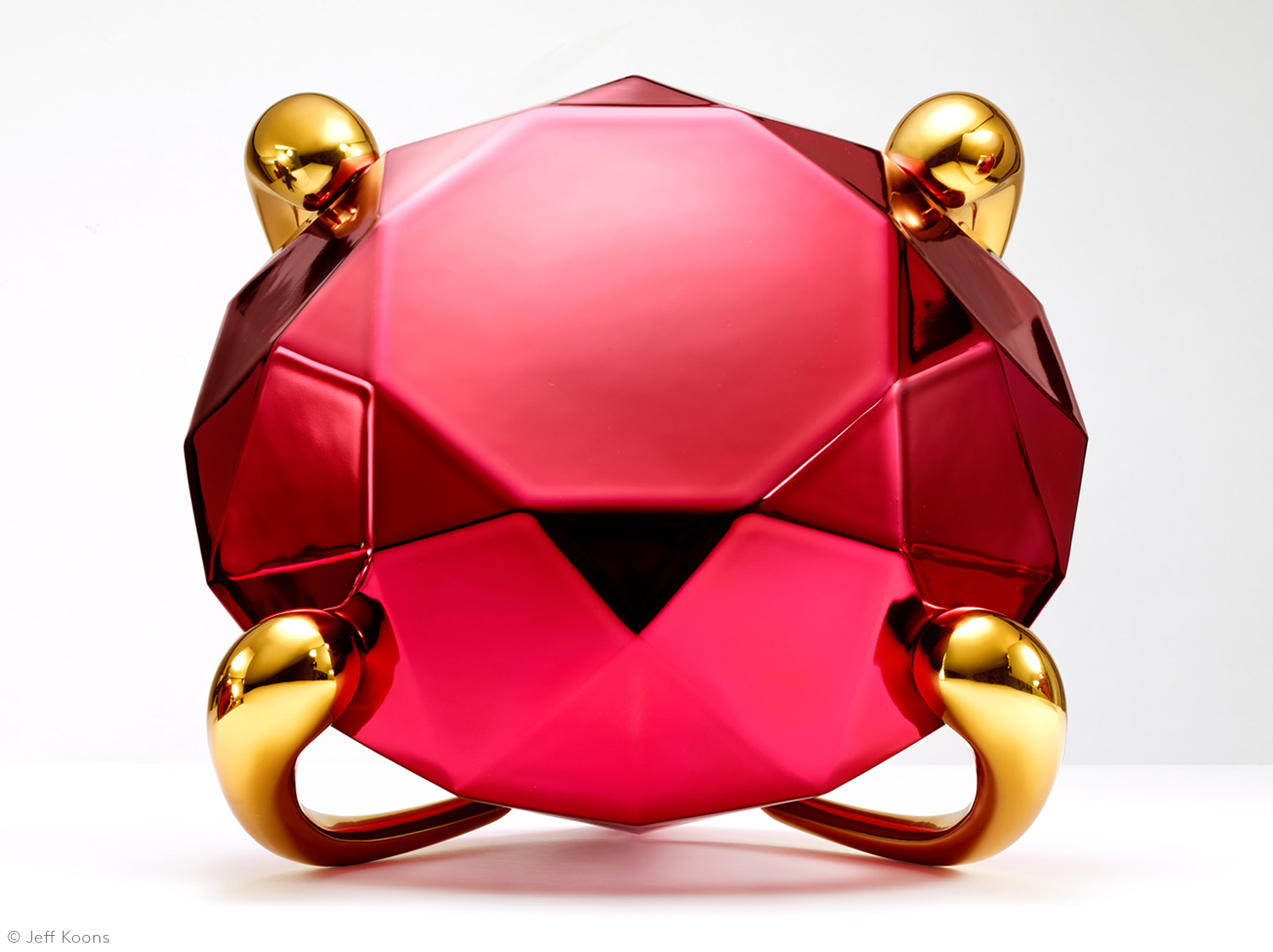 Diamond %28red%29 2020 %c2%a9 jeff koons face