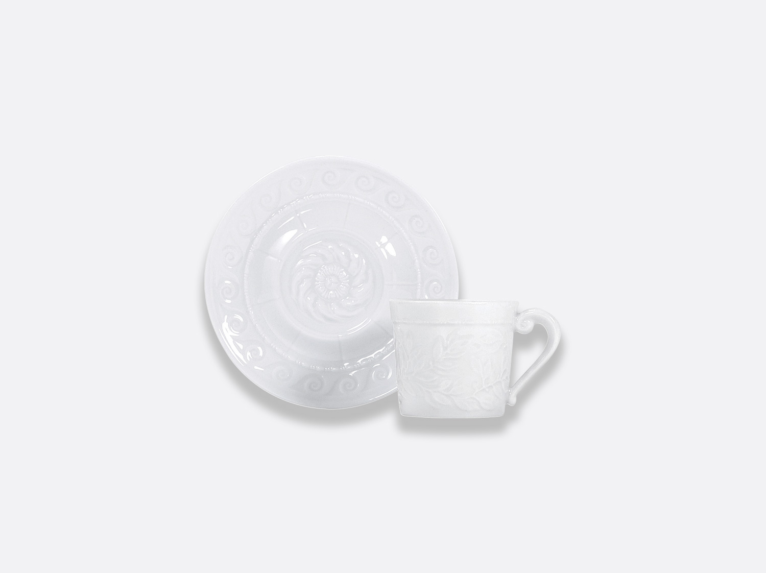 China Coffee cup and saucer 10 cl of the collection Louvre | Bernardaud