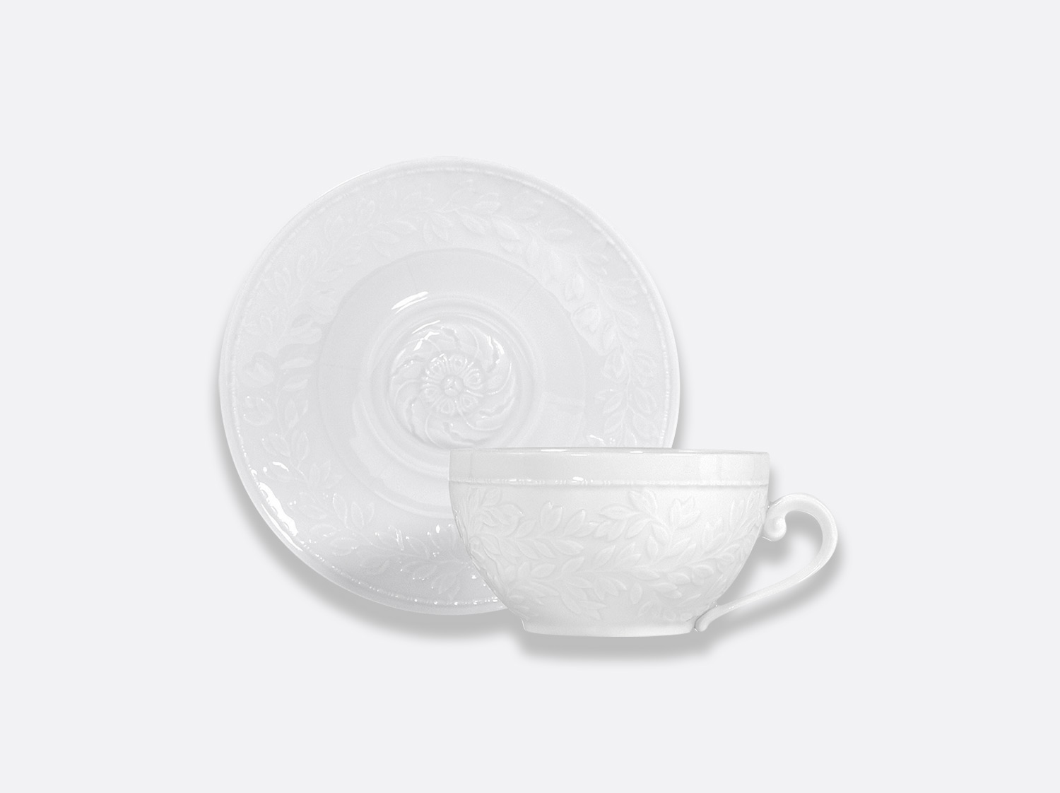 Tasse et soucoupe jumbo 30 cl en porcelaine de la collection Louvre Bernardaud