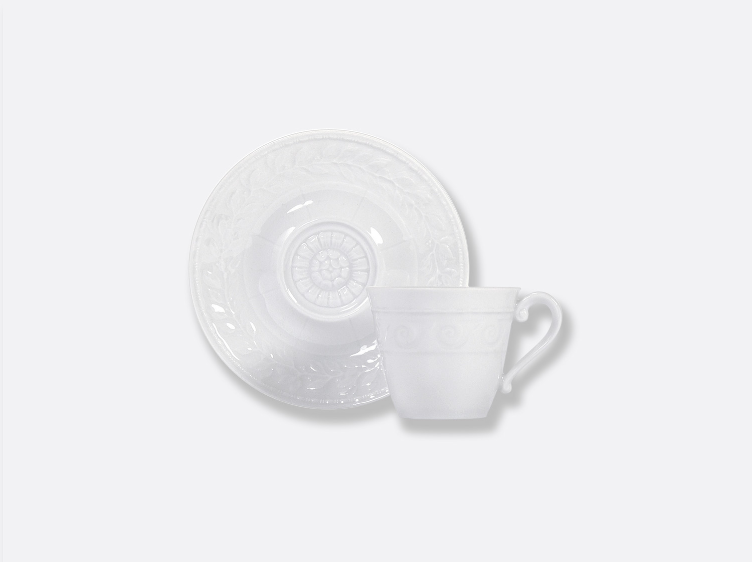 China Espresso cup and saucer extra of the collection Louvre | Bernardaud