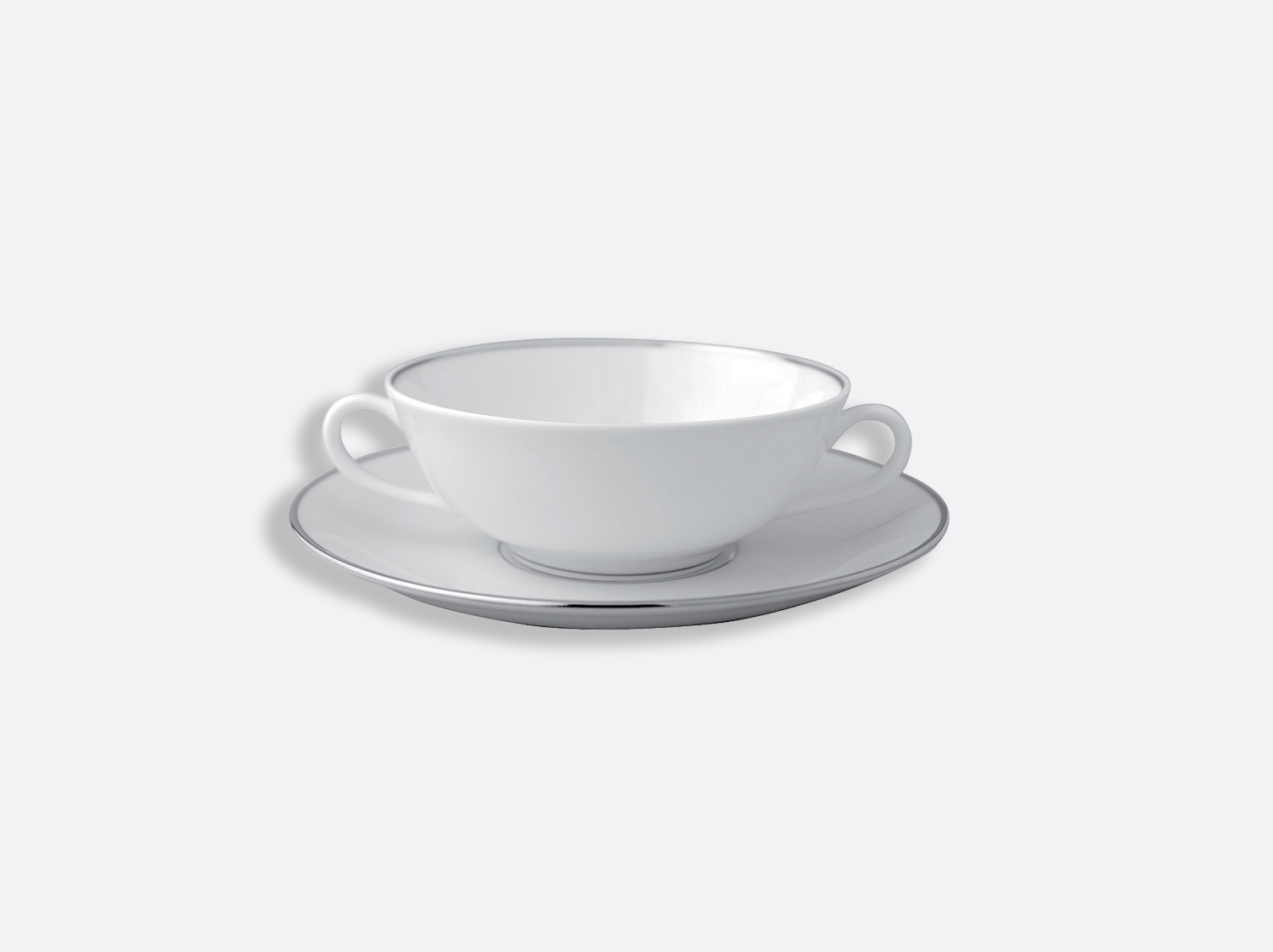 Bol et soucoupe à bouillon 15 cl en porcelaine de la collection Cristal Bernardaud