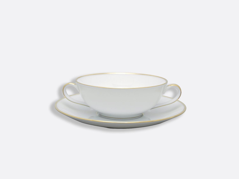 Bol et soucoupe à bouillon 15 cl en porcelaine de la collection Palmyre Bernardaud