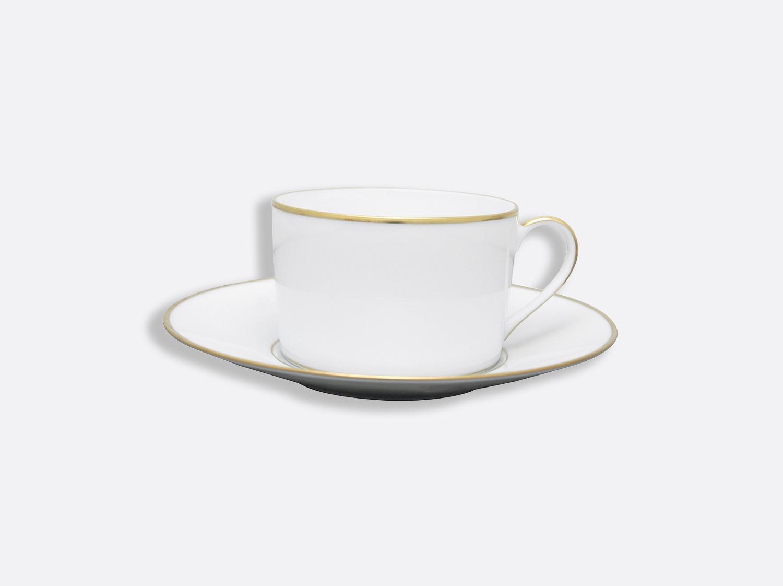 Tasse et soucoupe déjeuner 25 cl en porcelaine de la collection Palmyre Bernardaud