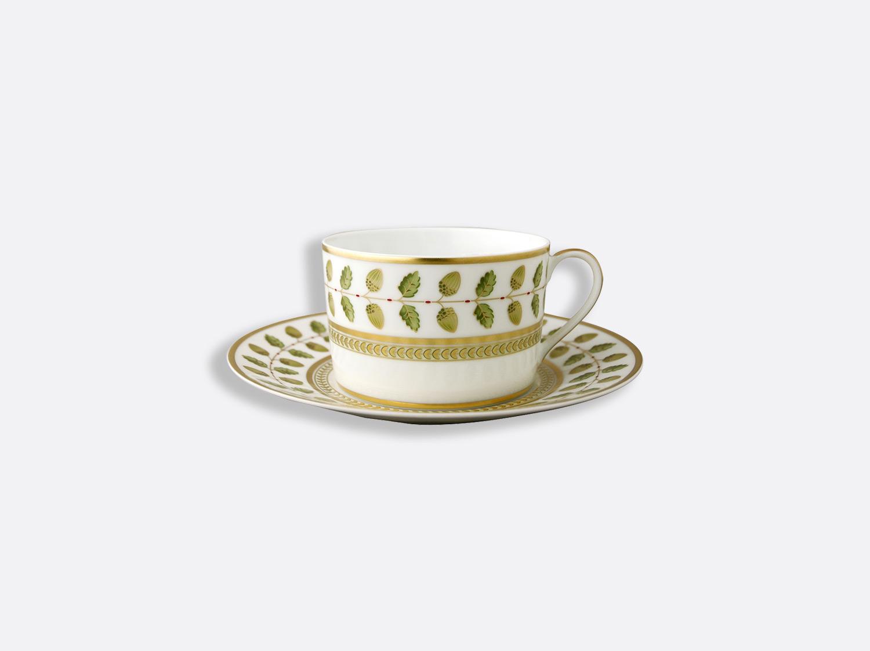 Tasse et soucoupe à thé 15 cl en porcelaine de la collection Constance Bernardaud