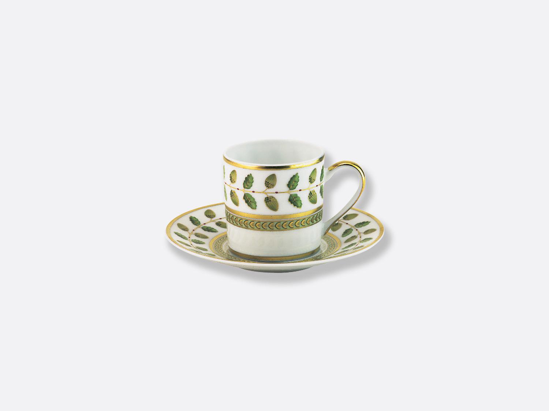 Tasse et soucoupe à café 8 cl en porcelaine de la collection Constance Bernardaud