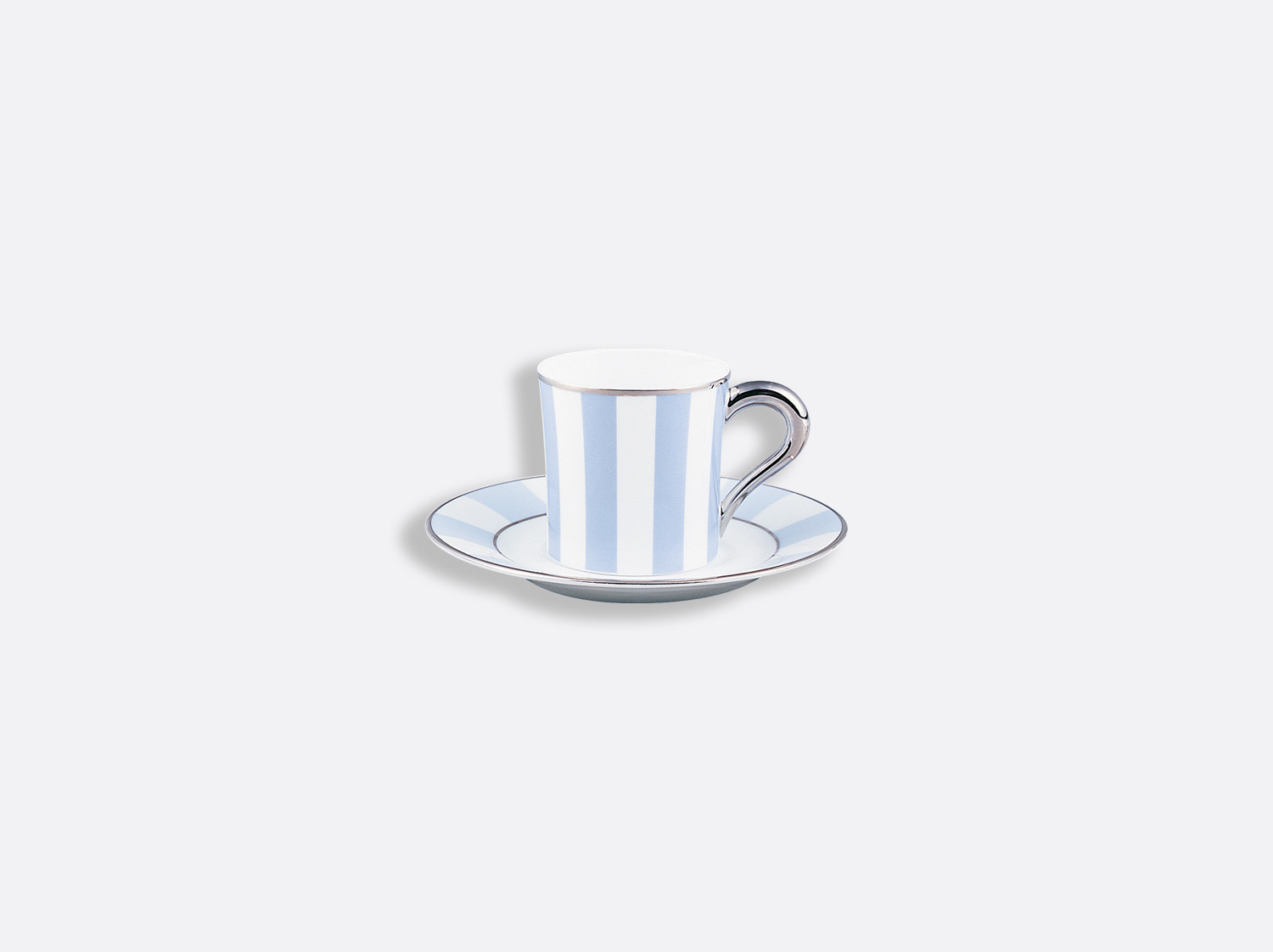 China Coffee cup and saucer 8 cl of the collection Galerie royale blue wallis | Bernardaud
