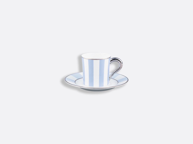 Tasse et soucoupe à café 8 cl en porcelaine de la collection Galerie royale bleu wallis Bernardaud
