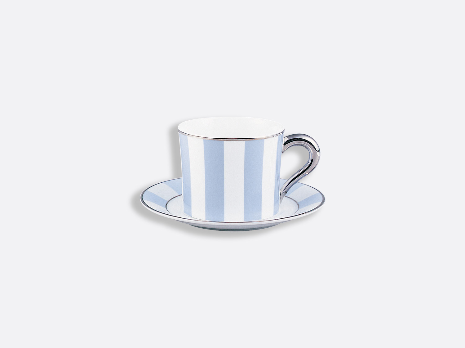 China Tea cup and saucer 20 cl of the collection Galerie royale blue wallis | Bernardaud