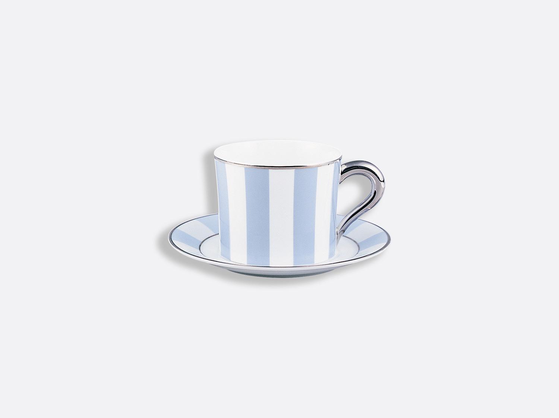 Tasse et soucoupe thé 20 cl en porcelaine de la collection Galerie royale bleu wallis Bernardaud