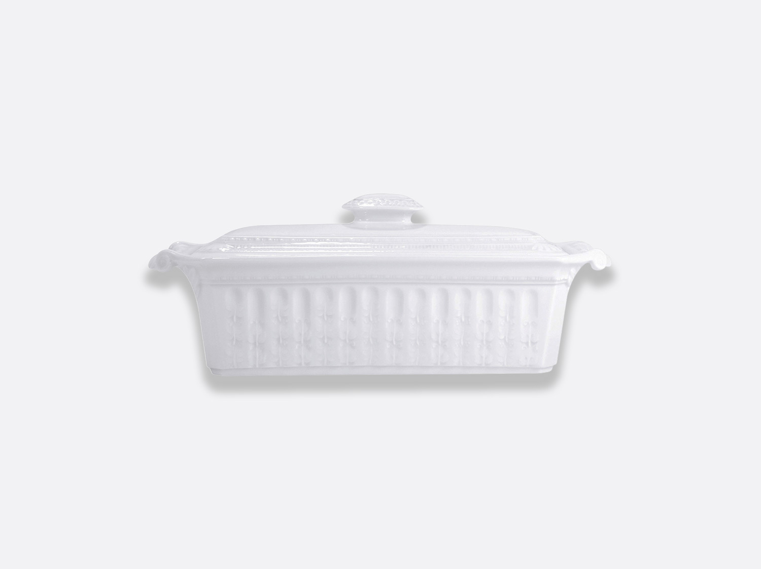 China Terrine with cover - rectangular 35 cm x 13 cm of the collection Louvre | Bernardaud