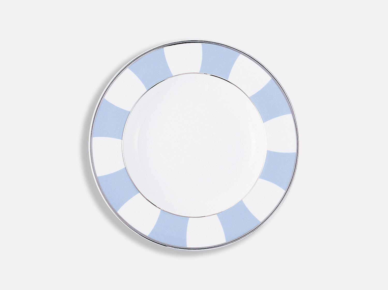 Assiette creuse à aile 22,5 cm en porcelaine de la collection Galerie royale bleu wallis Bernardaud