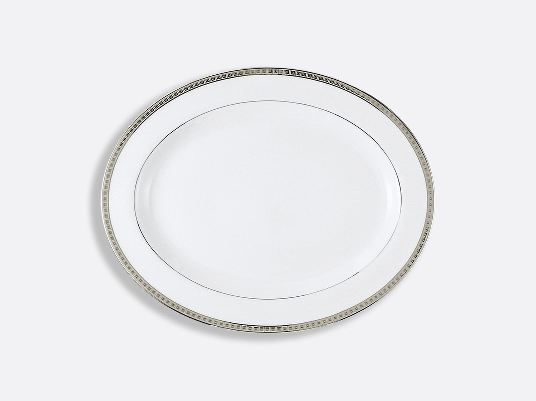 China Oval platter  38 cm of the collection Athéna platinum | Bernardaud