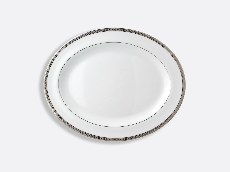 China Oval platter 33 cm of the collection Athéna platinum | Bernardaud