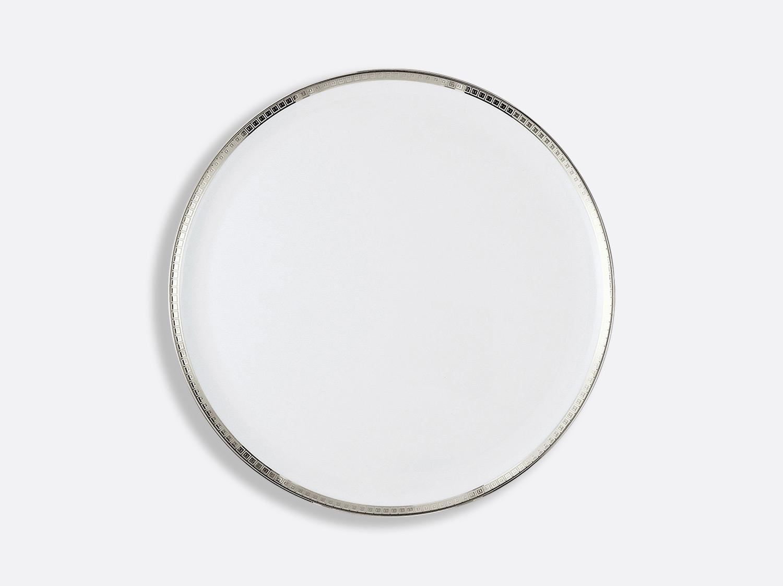 Plat à tarte 32 cm en porcelaine de la collection Athéna platine Bernardaud