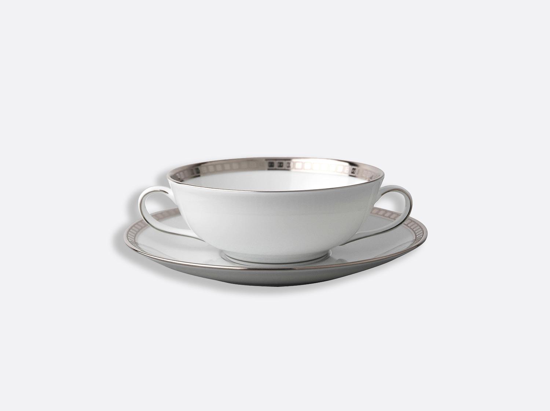 China Cream cup and saucer 15 cl of the collection Athéna platinum | Bernardaud