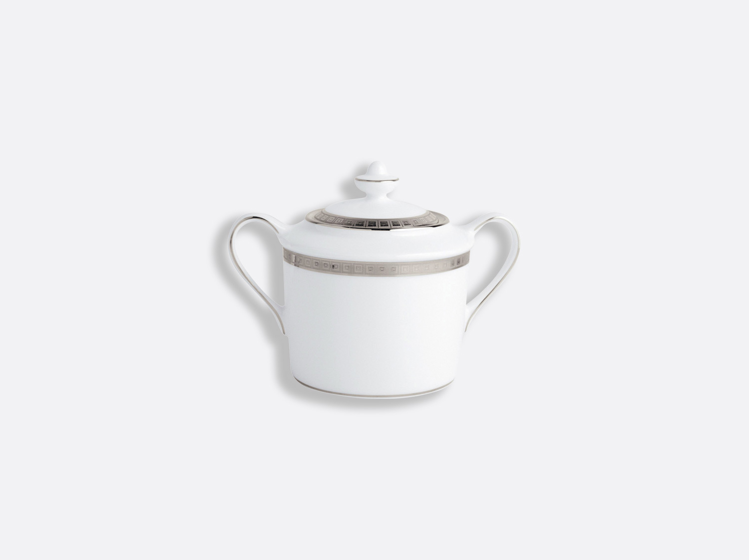 China Sugar bowl 6 cups 20 cl of the collection Athéna platinum | Bernardaud