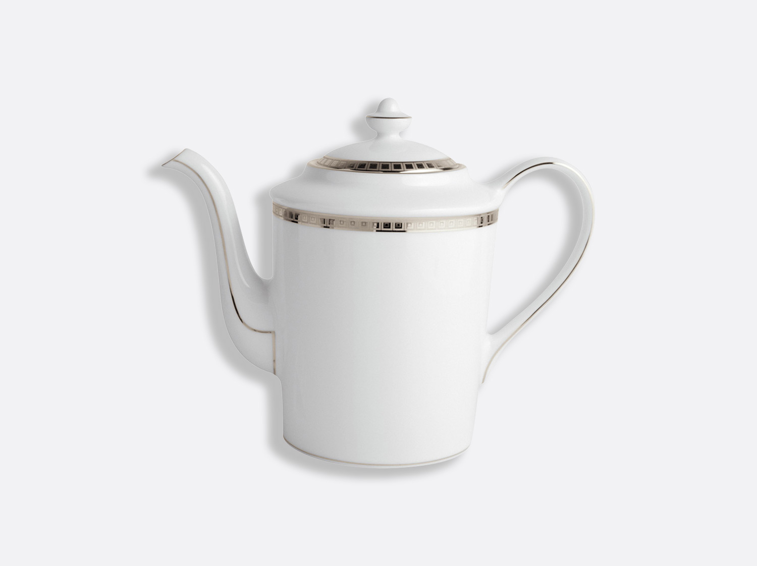 Cafetière 12 tasses 1 L en porcelaine de la collection Athéna platine Bernardaud