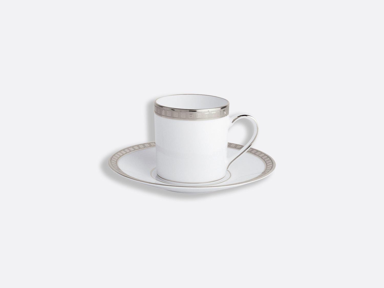China Coffee cup and saucer 8 cl of the collection Athéna platinum   Bernardaud