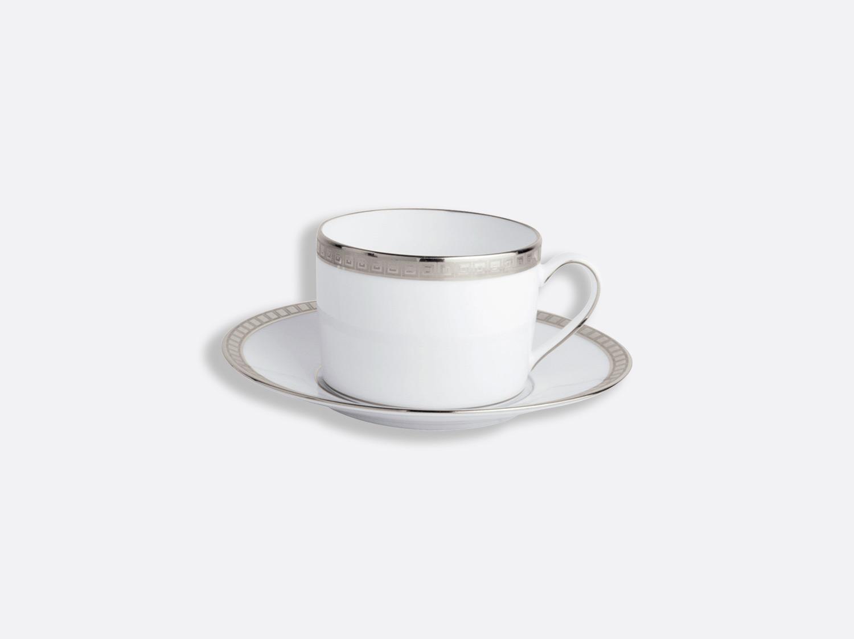 China Tea cup and saucer 15 cl of the collection Athéna platinum | Bernardaud