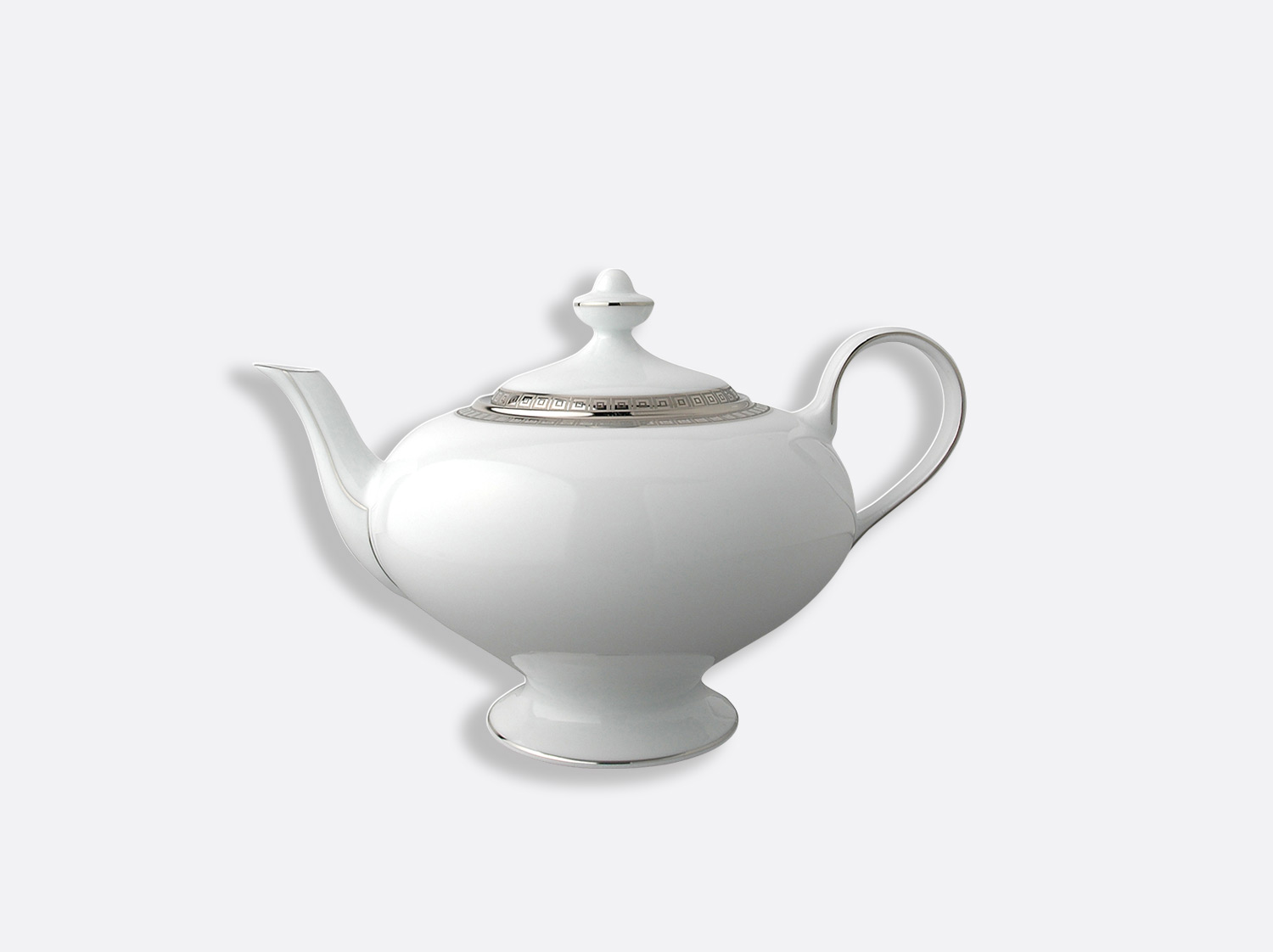 Théière 12 tasses 75 cl en porcelaine de la collection Athéna platine Bernardaud