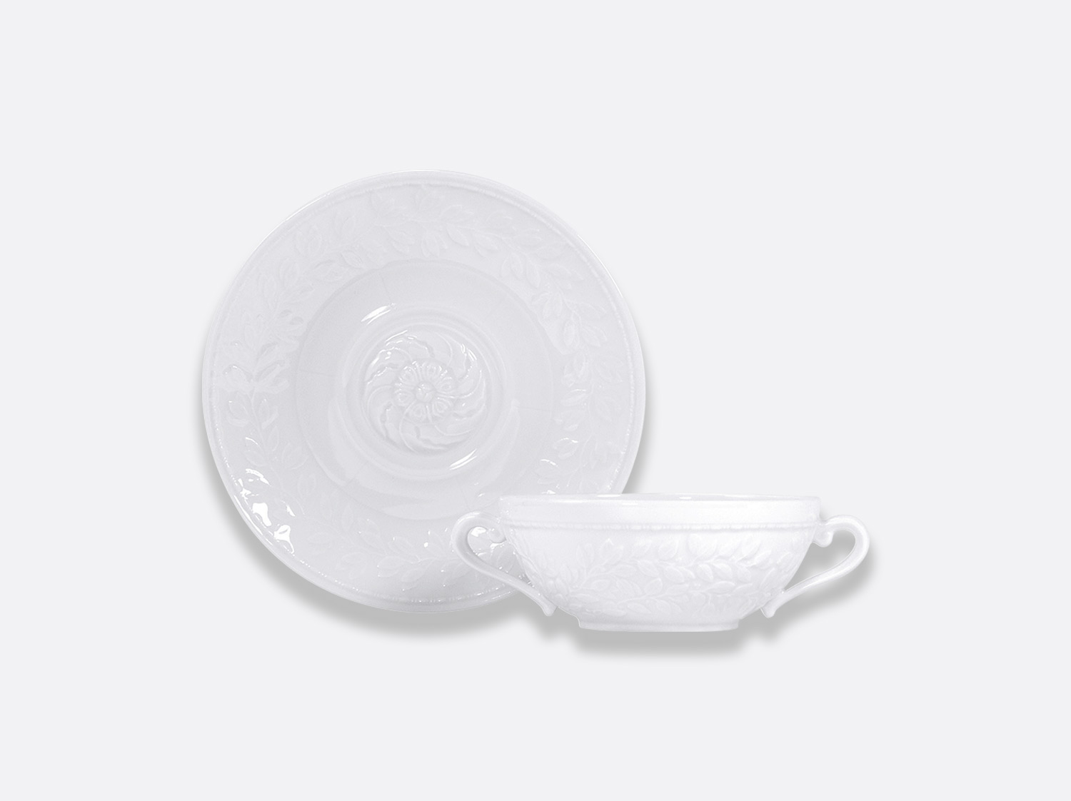 China Cream soup cup & saucer 25 cl of the collection Louvre | Bernardaud