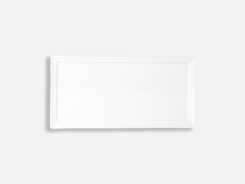 Assiette rectangulaire 27 x 13 cm en porcelaine de la collection Fusion Bernardaud
