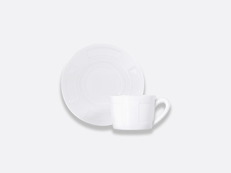 Tasse et soucoupe à thé 15 cl en porcelaine de la collection Naxos Bernardaud