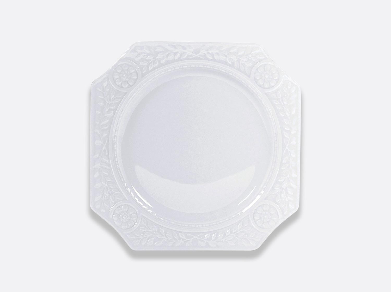 Assiette carrée hors d'œuvres 23,5 cm en porcelaine de la collection Louvre Bernardaud