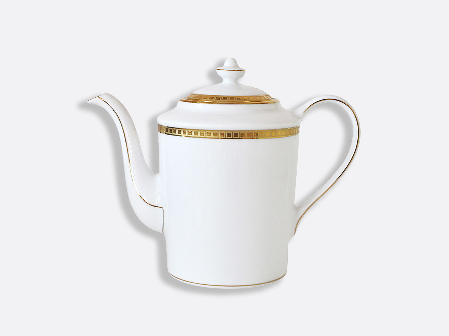 Cafetière 12 tasses 1 L en porcelaine de la collection Athéna or Bernardaud