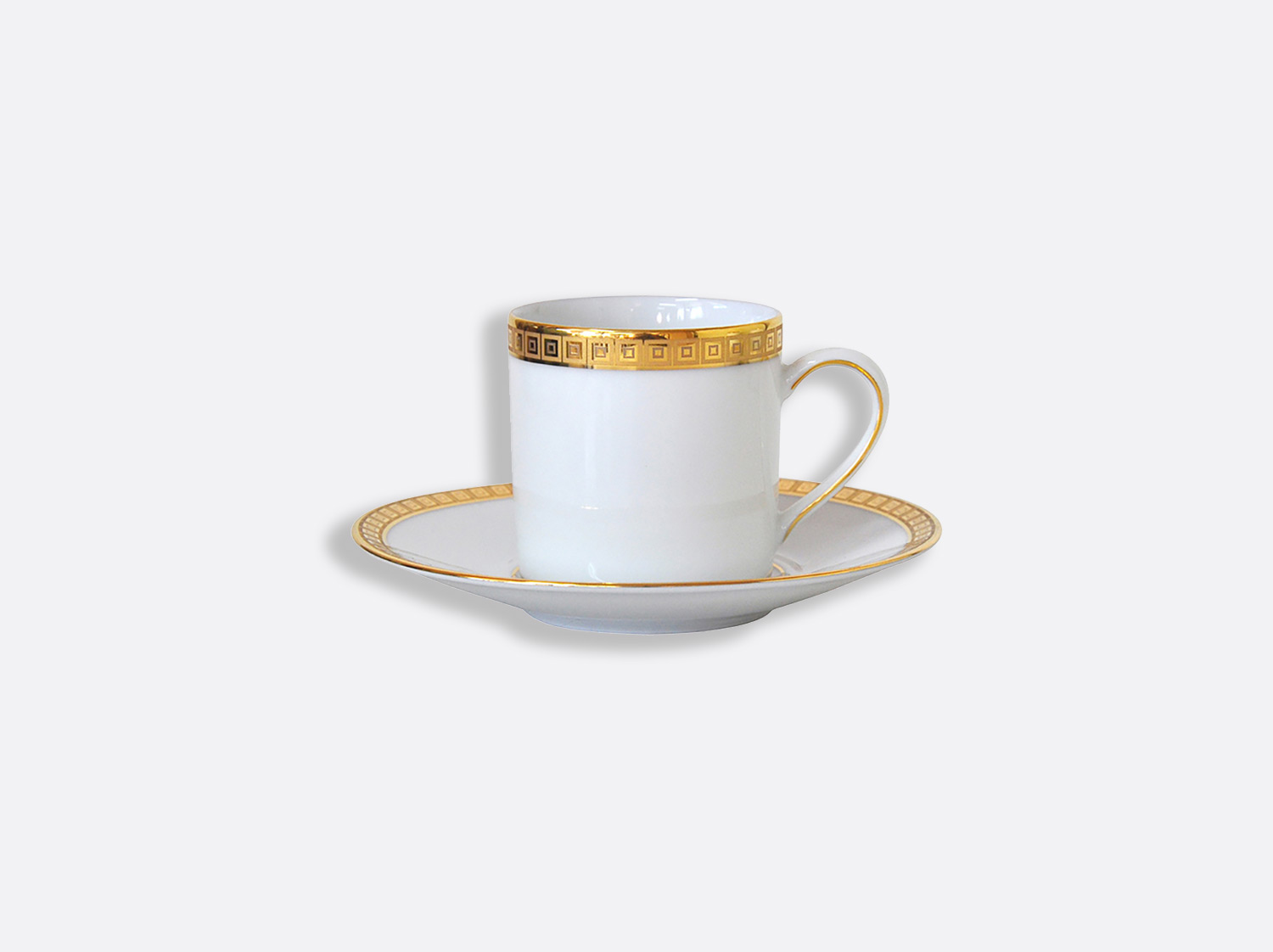 China Coffee cup and saucer 8 cl of the collection Athéna gold | Bernardaud