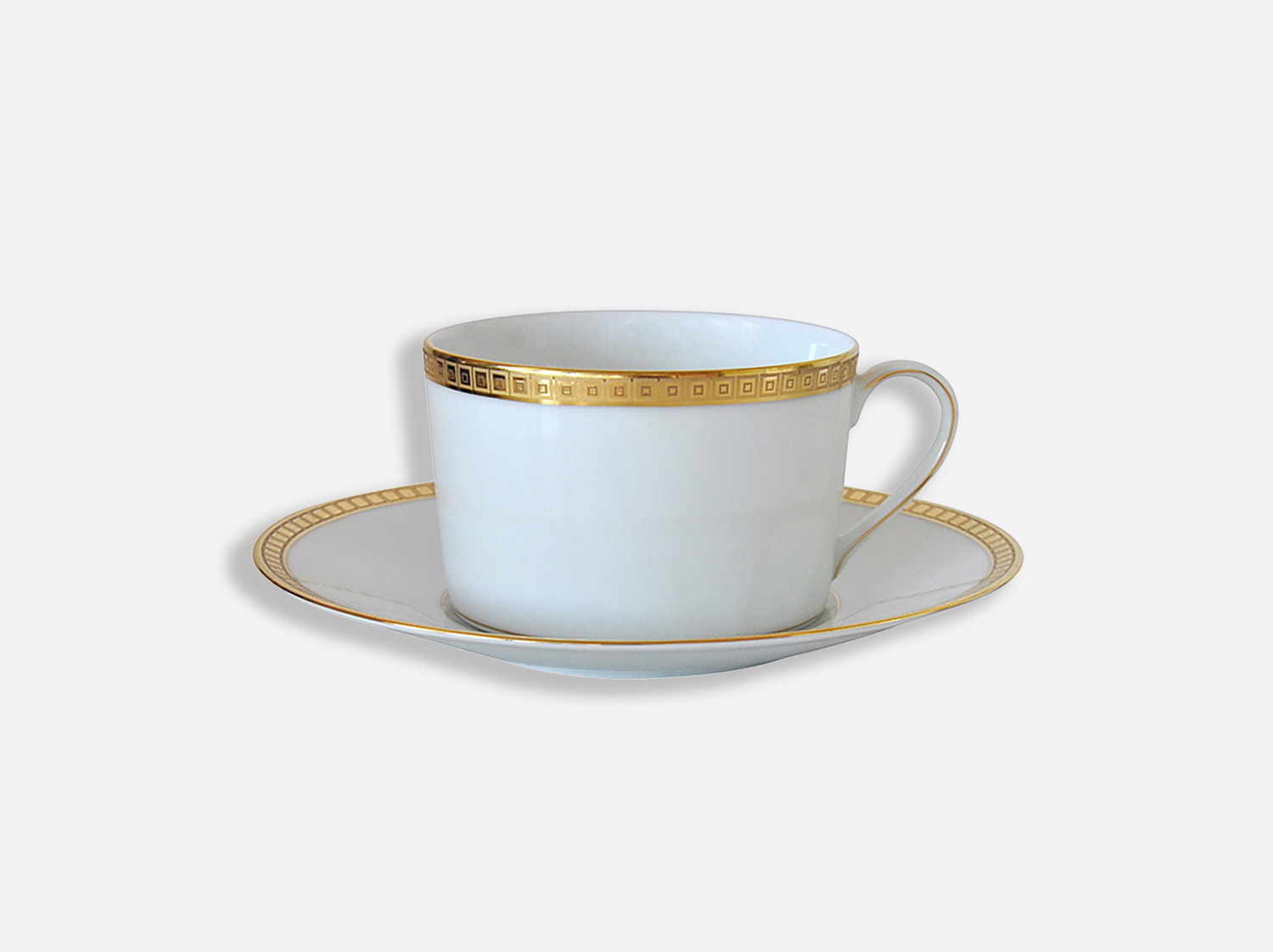 China Breakfast cup & saucer 25 cl of the collection Athéna gold | Bernardaud