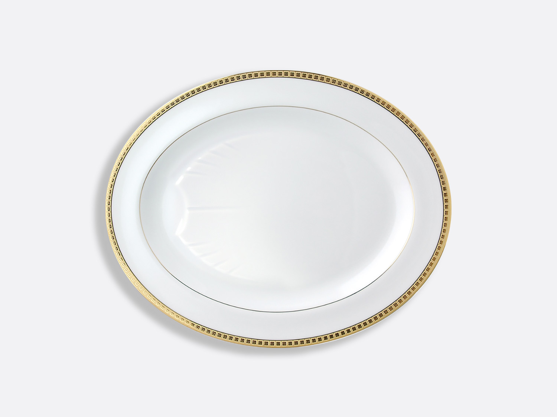 China Oval platter  43 cm of the collection Athéna gold | Bernardaud