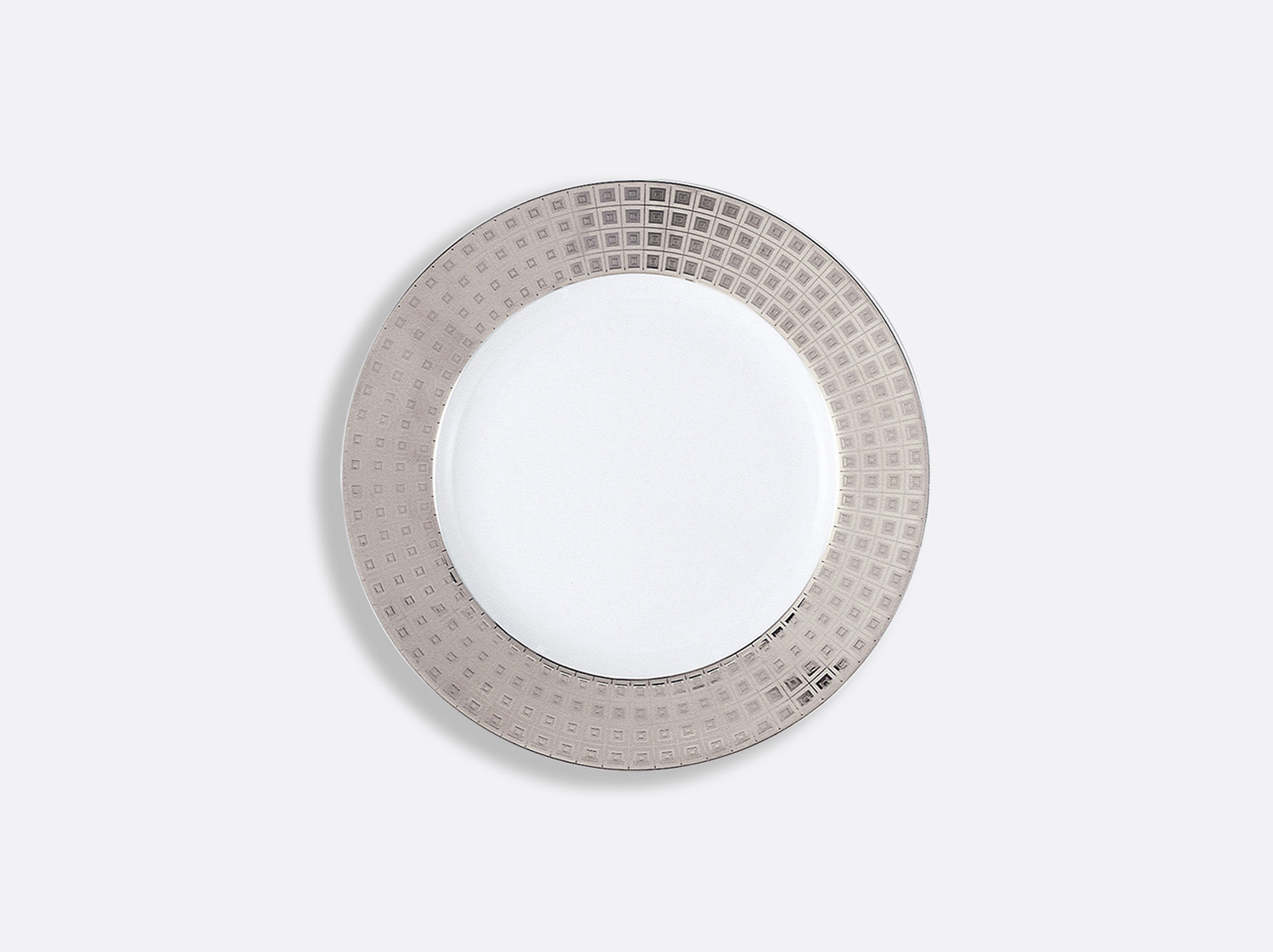 China Accent Bread and butter plate 16 cm of the collection Athéna platinum | Bernardaud