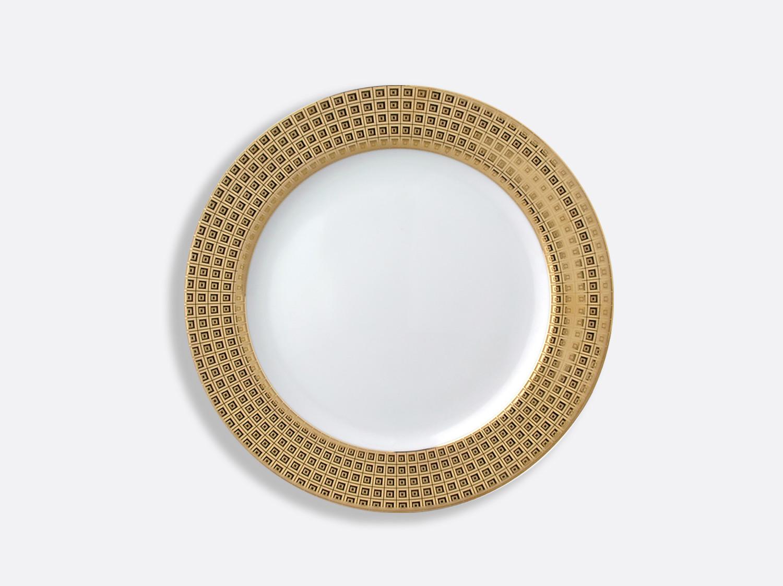 Assiette à dessert 21 cm à aile pleine en porcelaine de la collection Athéna or Bernardaud