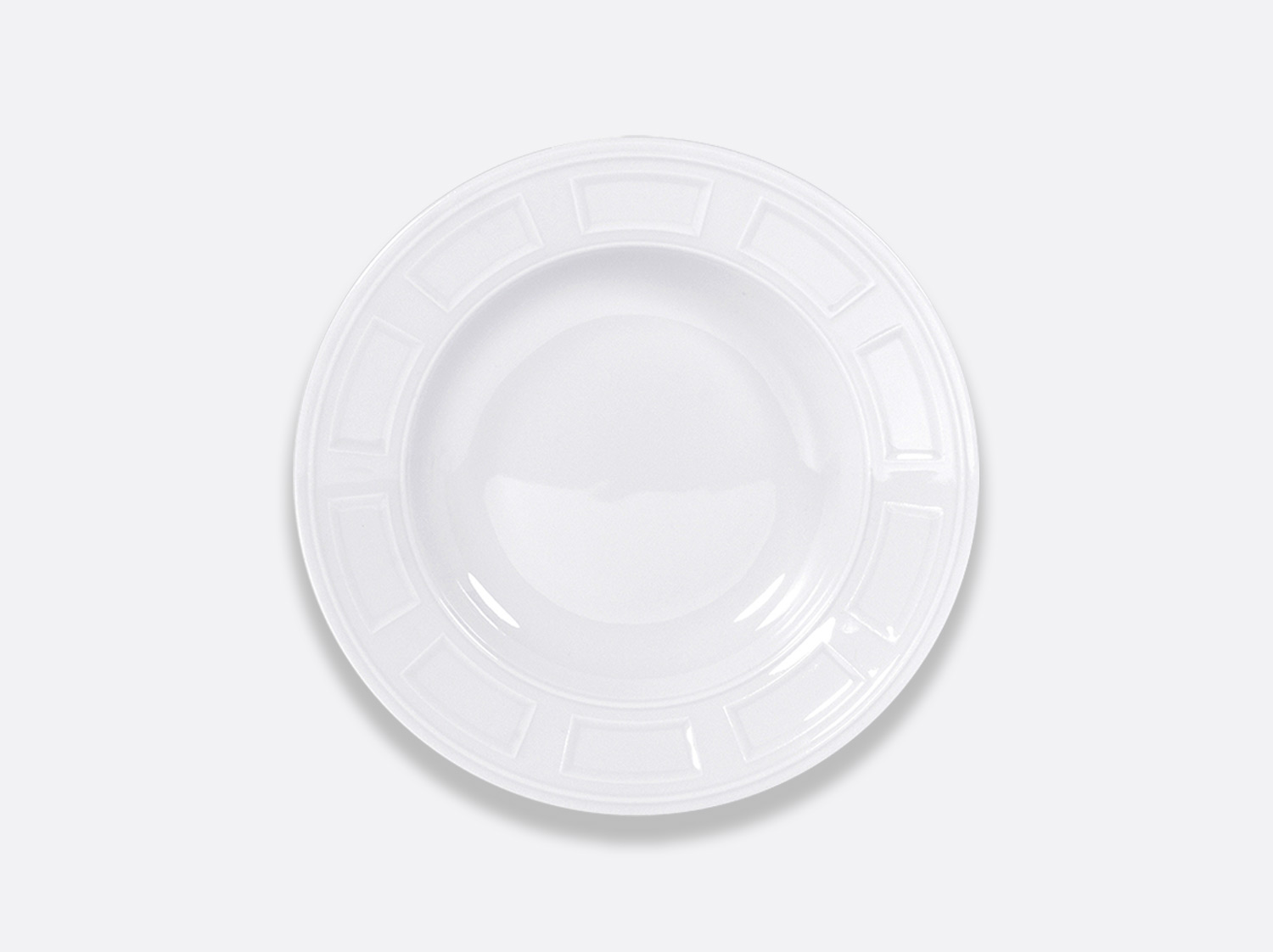 Assiette creuse à aile 22,5 cm en porcelaine de la collection Naxos Bernardaud