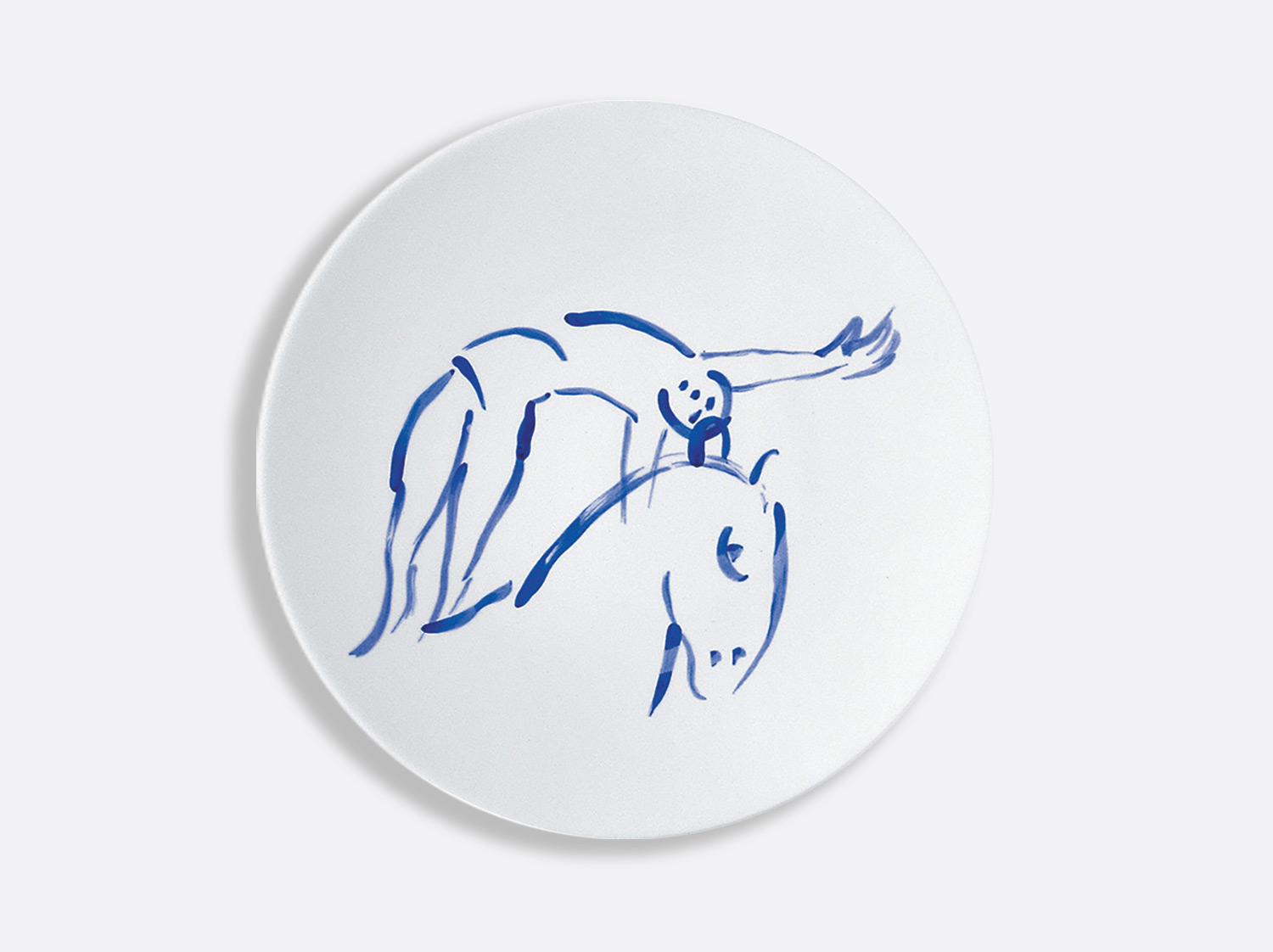 Assiette à diner l'ecuyere 26 cm en porcelaine de la collection Pour ida Bernardaud