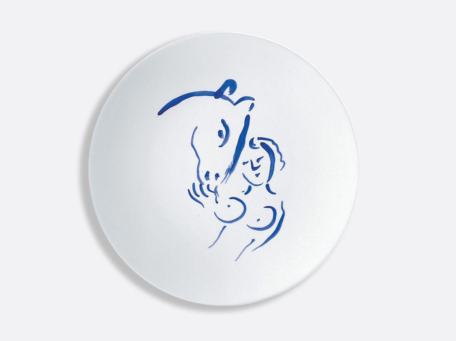 China Dinner plate nu et cheval 26 cm of the collection Pour ida | Bernardaud