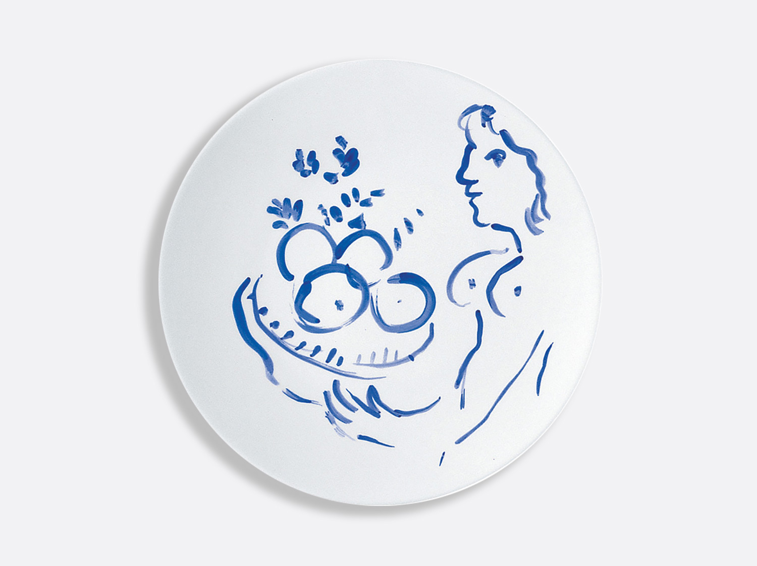 Assiette à diner nu aux fruits 26 cm en porcelaine de la collection Pour ida Bernardaud