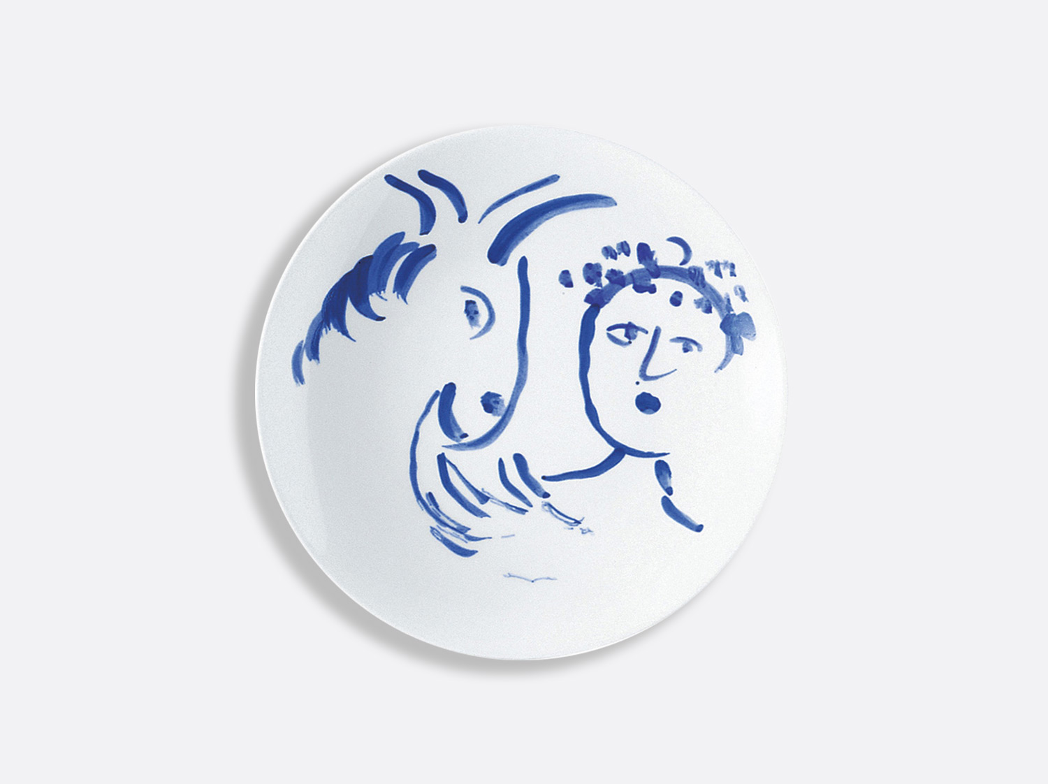 Assiette à pain amitie 16 cm en porcelaine de la collection Pour ida Bernardaud